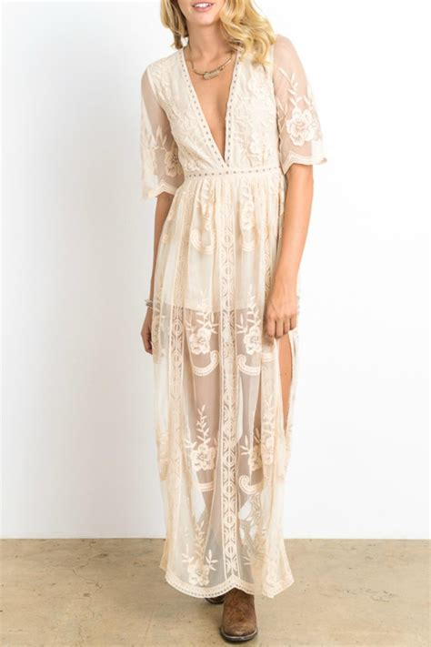 maxi jersey flower lace maxi dress all dress