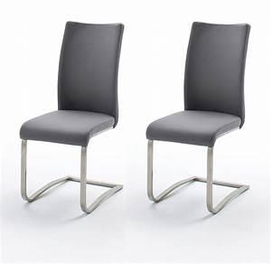 Esszimmerstuhl Grau Leder : esszimmerstuhle leder grau mit 2 x stuhl arco in grau ~ Watch28wear.com Haus und Dekorationen