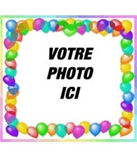 cadre photo avec des ballons color 233 s pour voeux d quot anniversaire photoeffets