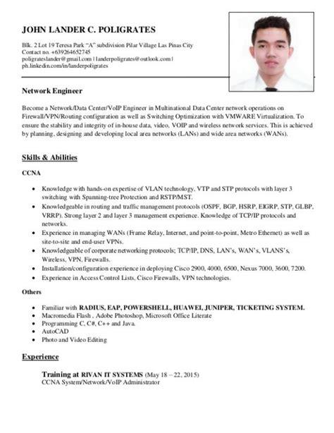 Network Engineer Resume by Network Engineer Resume Template Business