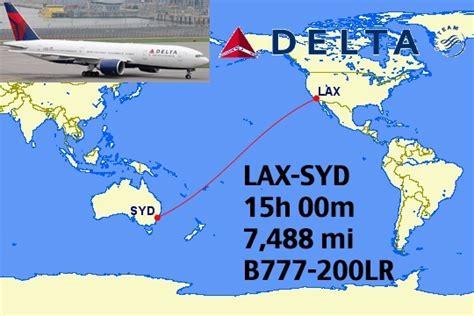 Top 12 Longest Nonstop Delta Flights In The World
