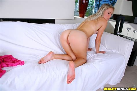 Tan Lines Round Faced Blonde Getting Fucked Doggy Style