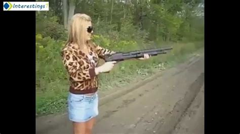 Why Women Shouldn't Use Guns. Fail Gun Compilation 2014