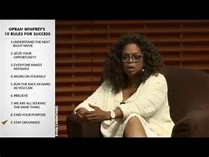 Oprah Winfrey's Top 10 Rules For Success - YouTube