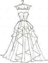 Coloring Pages Dresses Draw Barbie Drawings Sketches Sketch Could Bride Olds sketch template