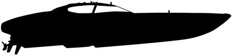Fast Boat Vector by Speed Boat Silhouette Free Vector Silhouettes