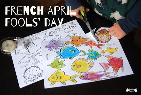 french april fools day tricky fishes papier bonbon