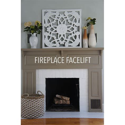 painting  drab fireplace   modern  behr
