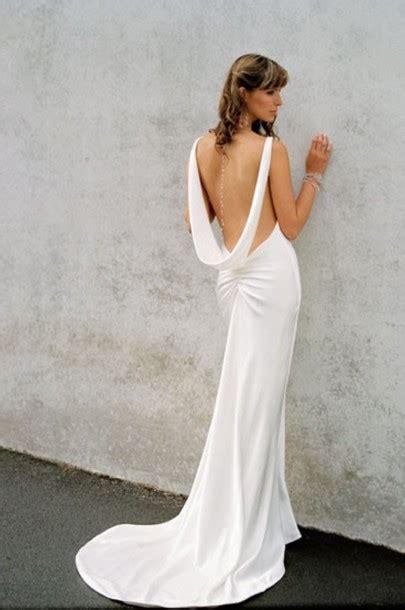 dress scoop  backless white dress wheretoget