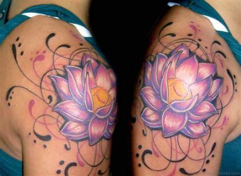 73 Great Vintage Flower Tattoos On Shoulder