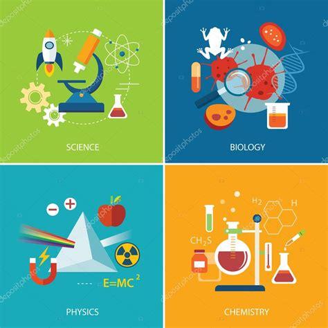 science concept physics chemistry biology flat design stock vector 169 kaisorn4 75254143