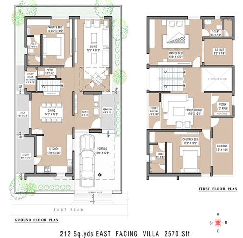 Villa Home Plans by Vertex Capital County Villa In Namburu Guntur Price