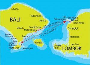 map bali  gili trawangan  lombok gili islands