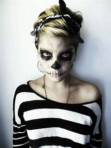 Cool scary skeleton face makeup #3 | Halloween :) | Pinterest