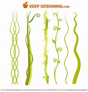 Jungle Plant Vine Beanstalk - Free Vector Art