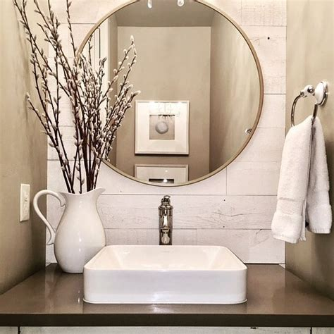 Neutral Bathroom Decor by Neutral Powder Room Featuring Htons Thanks For
