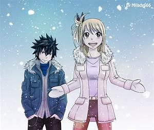GrayLu _winter by ~Milady666 - Lucy x Gray Fan Art ...