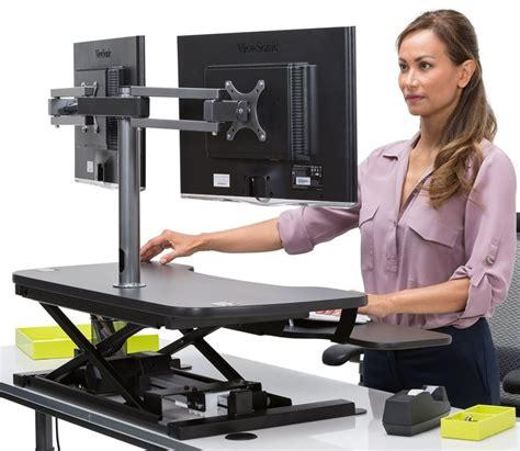 best standing desk converter 2017 powerdesk electric standing desk converter