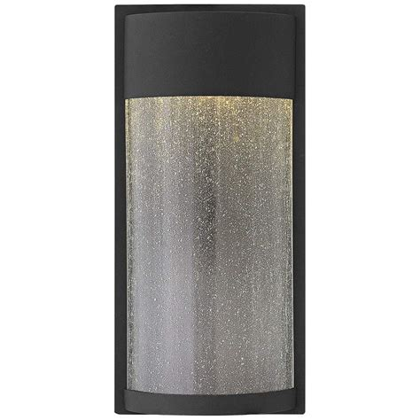 hinkley shelter 18 quot high led black outdoor wall light