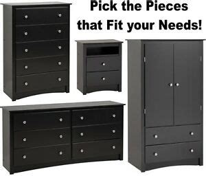 black bedroom furniture armoire dresser drawer nightstand