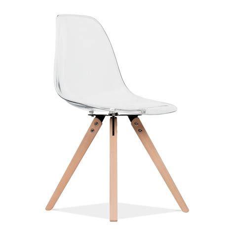 chaise eames transparente chaise de salle à manger dsw transparent avec pieds en