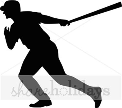 baseball player silhouette clipart party clipart