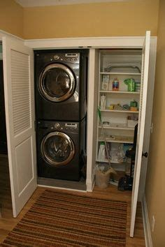 Closet Size For Stackable Washer And Dryer by Stackable Washer Dryer Storage Solutions Laundry Closet