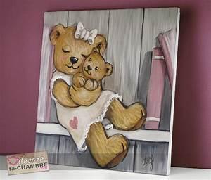 Tableau Chambre Fille : tableau ourson fille livre 59 vente tableau ourson pour enfants decore ta chambre ~ Teatrodelosmanantiales.com Idées de Décoration