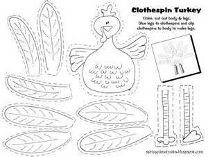 time treats clothespin turkey