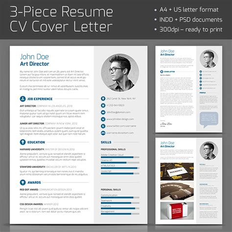 curated cv template 3 piece resume on behance