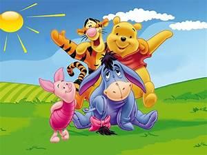 Winnie The Pooh Tigger Piglet Eeyore Gray Donkey Desktop