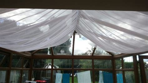 Roof Draping - conservatory ceiling drapes mudroom madness