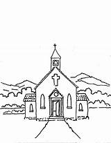 Church Coloring Pages Lord Faith Worship sketch template