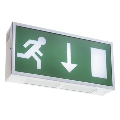 metaled wall mounted led exit sign emergency lighting