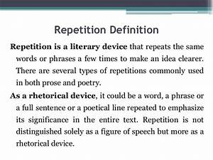 Repetition (tool in stylistic)