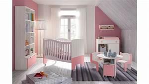 Chambre Bebe Fille Complete : chambre b b fille avec lit bicouleur blanc et rose glicerio so nuit ~ Teatrodelosmanantiales.com Idées de Décoration