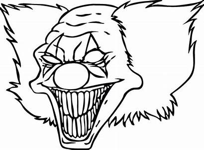Scary Fish Drawing Coloring Pages Clown Getdrawings