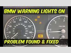 BMW ABS & DSC Dynamic Stability Control Warning Lights