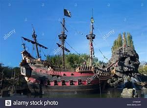 Pirates of the Caribbean Ship at Disneyland Paris Stock ...