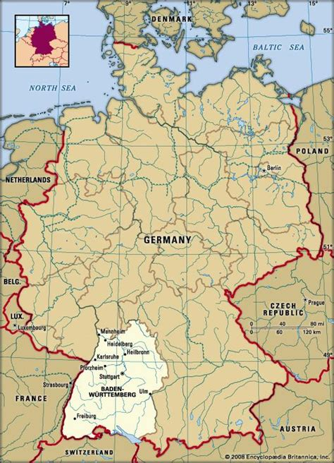 Map of germany and travel information about germany brought to you by lonely planet. Baden-Wurttemberg   state, Germany   Britannica.com