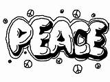 Graffiti Coloring Peace Pages Printable Teens Word Adults Teenagers Drawings Easy Colouring Words Letters Drawing Cool Quotes Bo Bubble Adult sketch template