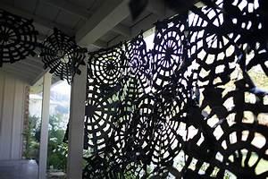 Trash Bag Spider Webs Easy Halloween Decor Spooky