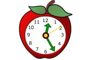 Apple Cartoon Clock Clip Art