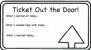 Aps reading blog march 2012 for Ticket out the door template
