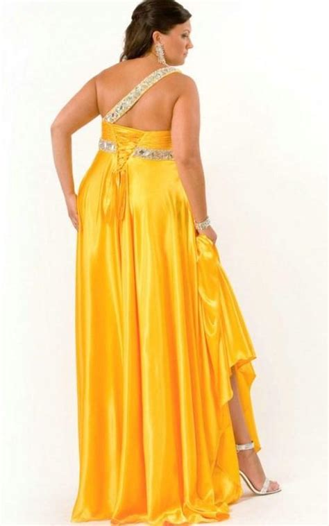 yellow  size prom dresses pluslookeu collection