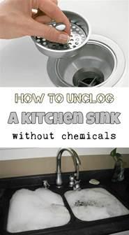 unclog  kitchen sink  chemicals