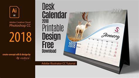 professional printable desk calendar   adobe