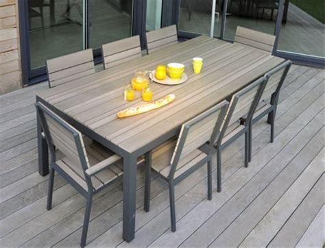 ensemble bureau pas cher lot de 4 chaises de jardin alu bois composite