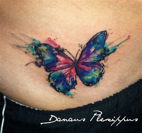 watercolor tattoo butterfly full color  tattoo art