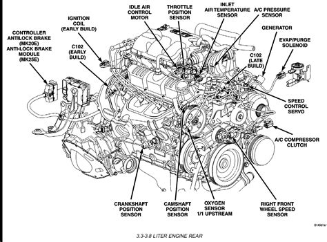 Dodge Caravan 3 3 Engine Diagram by Where Is The Location Of A Crankshaft Sensor On A 2005